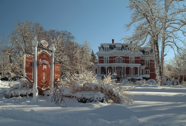 Blomidon Inn winter scene