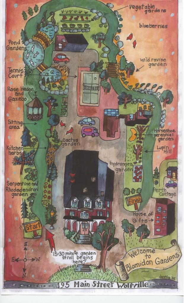 Map of Blomidon Inn Gardens